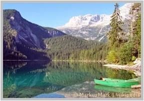 Blick auf den Lago di Tovel