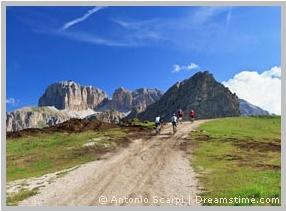 Radfahren Dolomiten